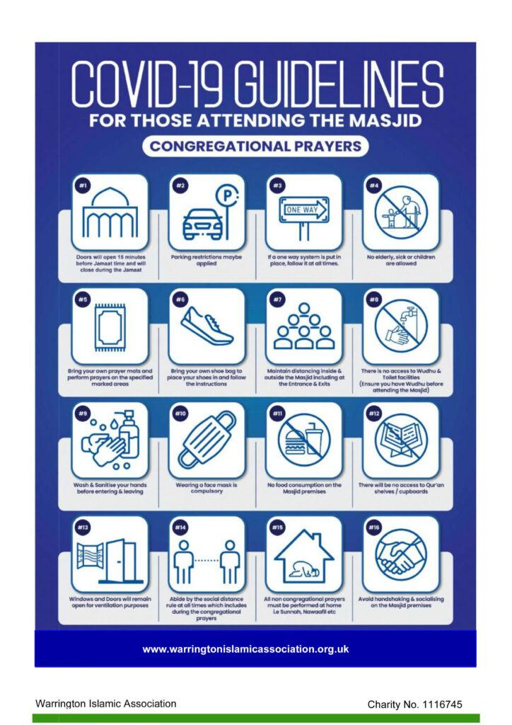 Covid 19 Guidance for Warrigton Islamic Association